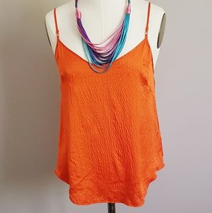 Wilfred Textured Silk Cami Sleeveless Camisole - M
